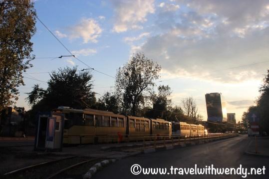 Tram and Train in Bucharest