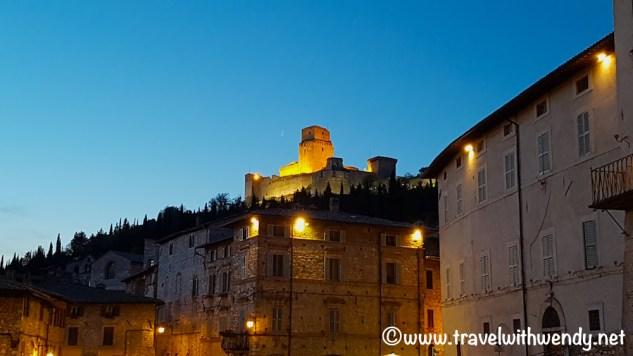 Assisi at night ~ Fortress