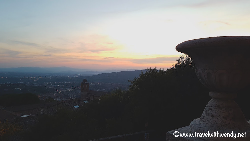 Perugia at sunset