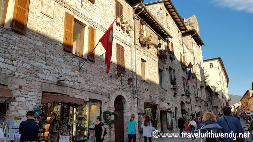Shops along the streets in Assisi