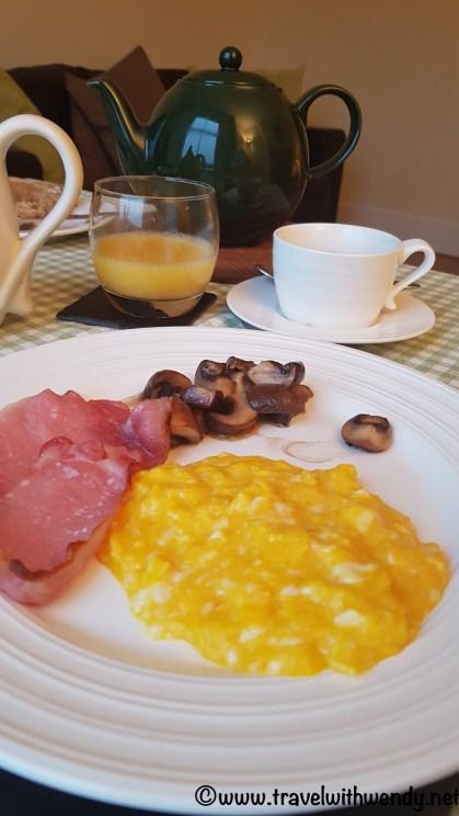 Superb breakfast at Kilsham Farm