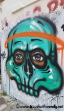Creepy cool wall art - Athens