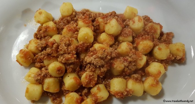 Gnocchi with bolognese