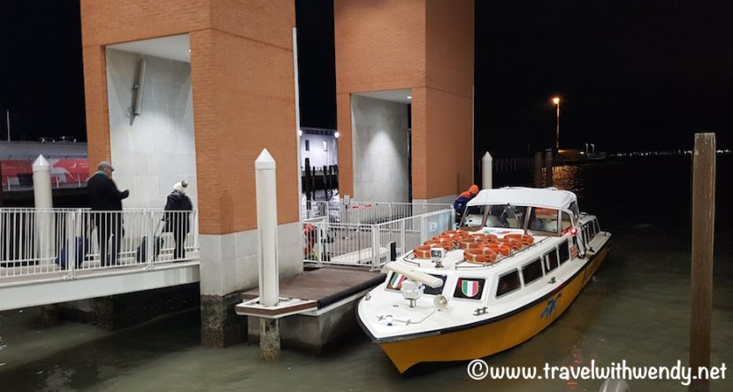 Vaporetto to Venice from Marco Polo Airport