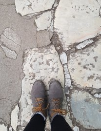 Walking on ancient streets
