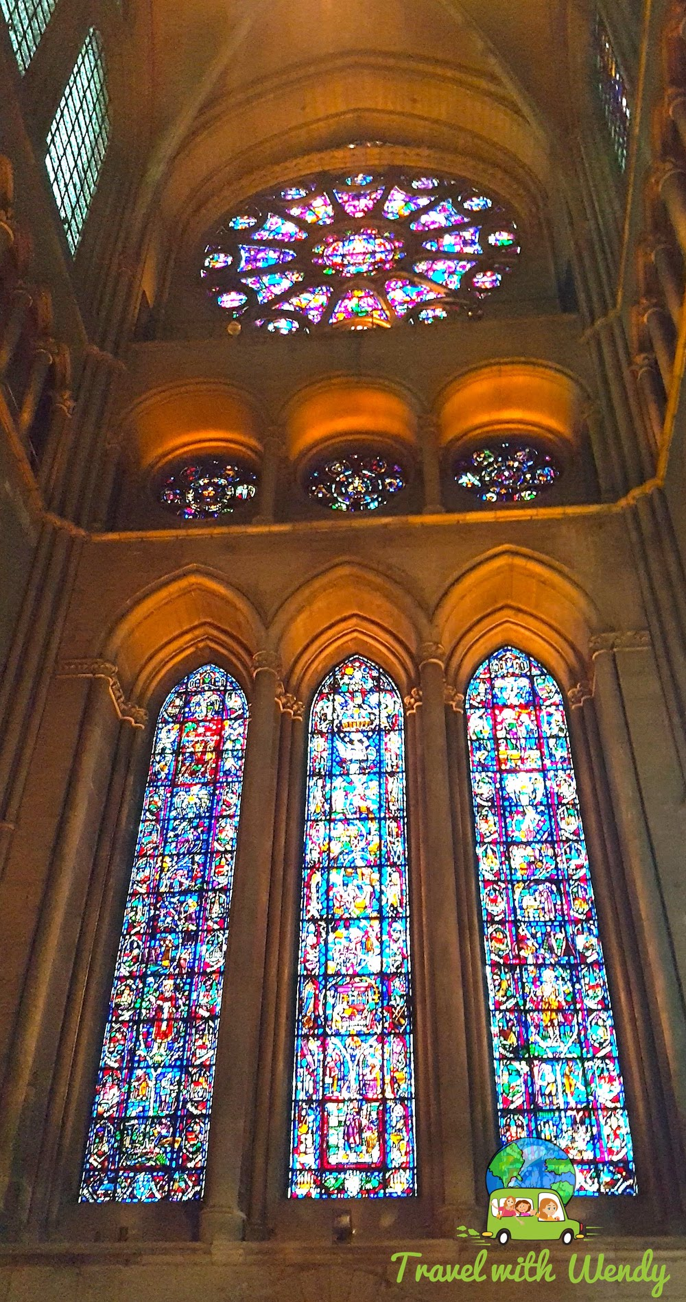 Beautiful stain glass throughout the cathedral