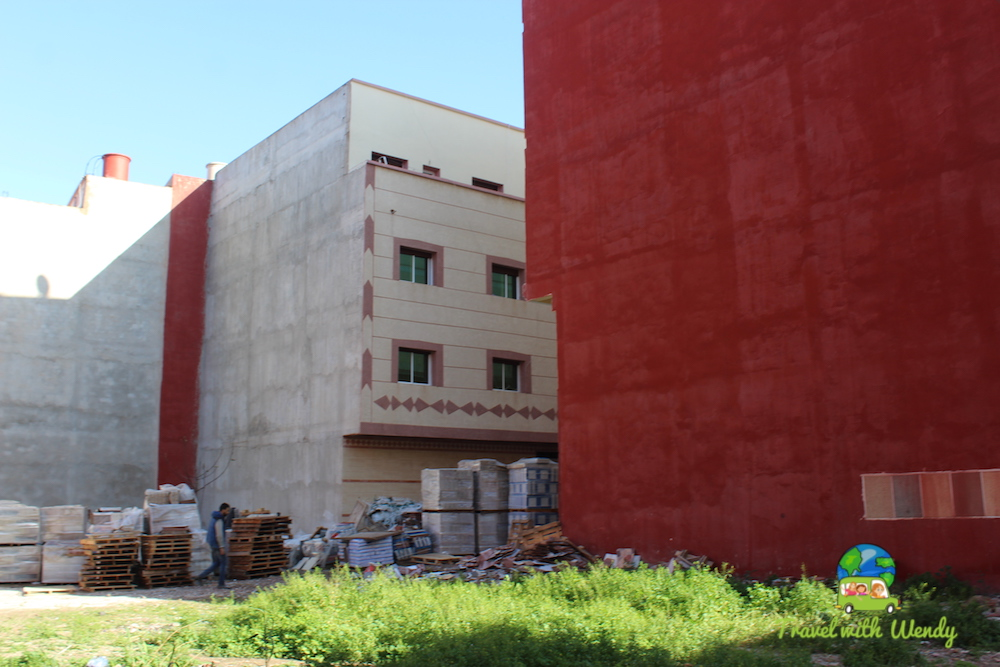 Construction and red buildings - beautiful Morocco red