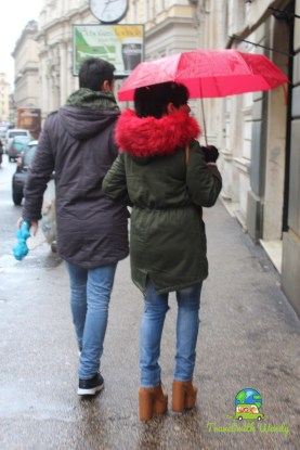 Fashion and Rain in Rome