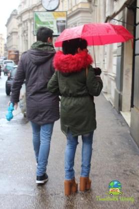 Fashion and Rain in Rome