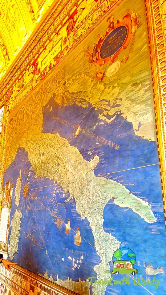 Maps of Italy in Vatican