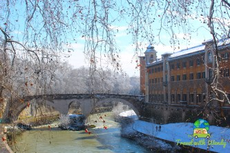 Tiber River snow views