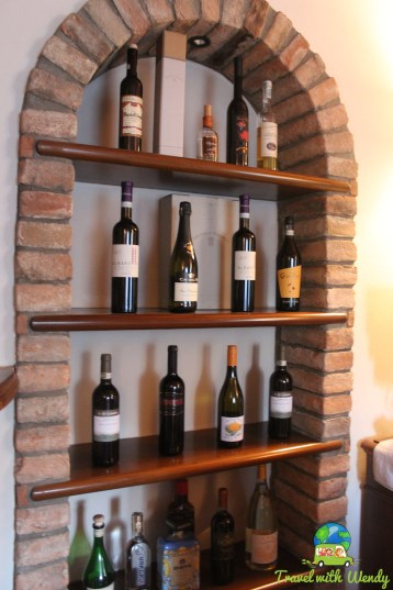 Wonderful wine selection at Che Piasi