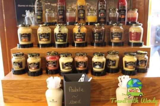 Maille mustard tastings