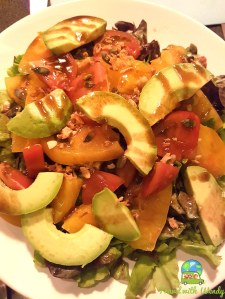 Avocado salad with tomatoes and peppers