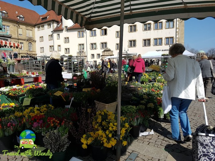 Flower market in Stuttgart