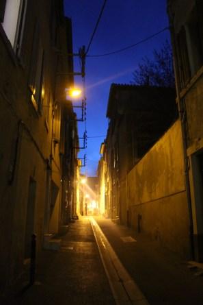 Quiet streets at night