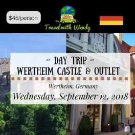DAY TRIP - Wertheim Castle & Outlet