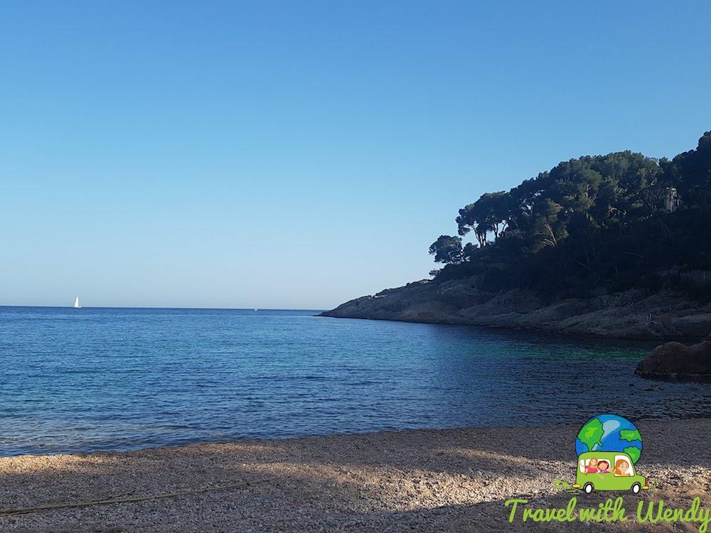 Catalonia ~ Quiet beach at Tamariu - in April