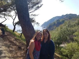 Walking around the coast in Tossa del Mar