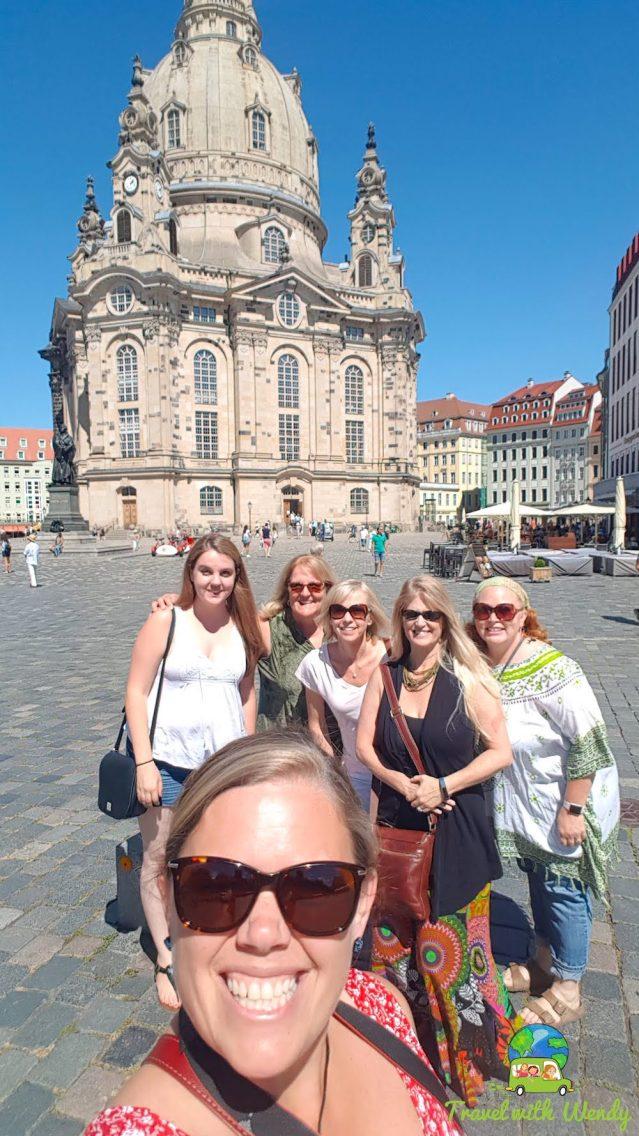 Having fun in Dresden, Germany