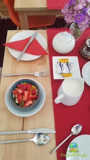 Scotland - Beautiful breakfast at Ceo Mara Croft