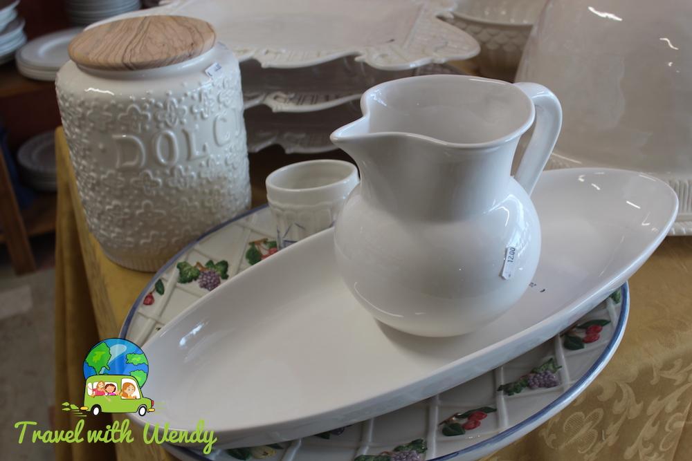 My Italian pottery buys!