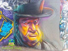 Grumpy dude - street art - woskerski