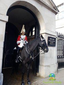 Horse guard on guard