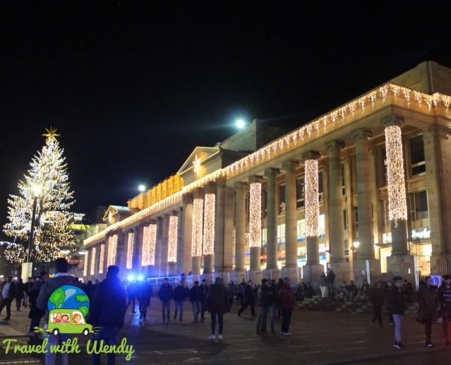 Stuttgart Weihnacht at night