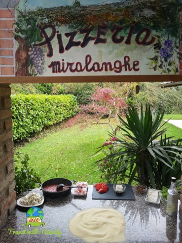 Pizza in Piemonte, Italy