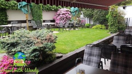 Quiet patio at Hotel Victoria