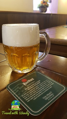 Sample beer with our entrance ticket