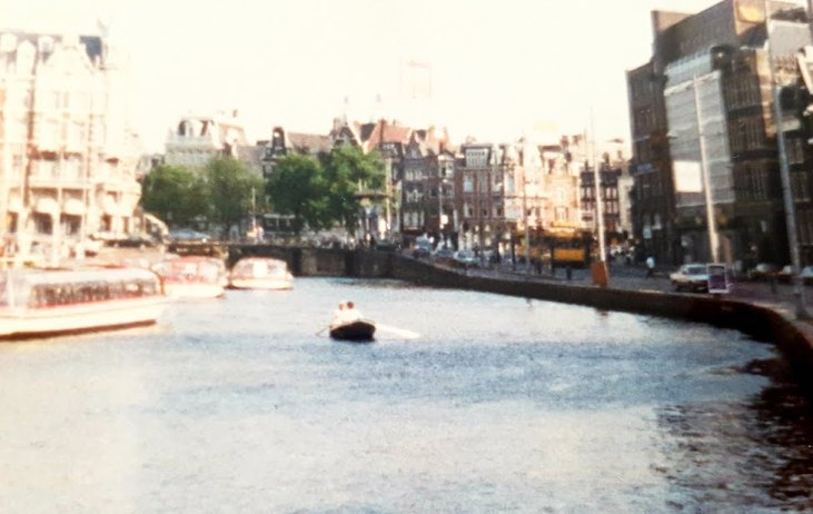 Canal is a little busier these days - 1988 - Touring the Netherlands