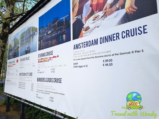 Info on the dinner cruise - touring the Netherlands
