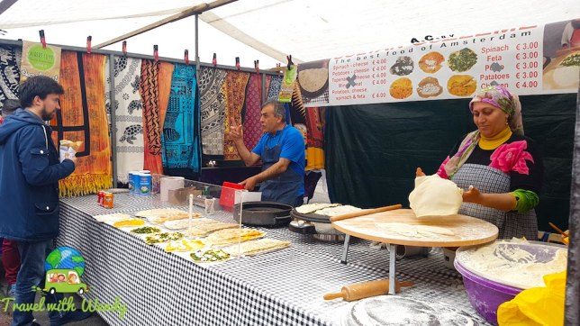 Market crepes - touring the Netherlands
