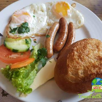 Sausage and Eggs for Breakfast - Cologne, Germany