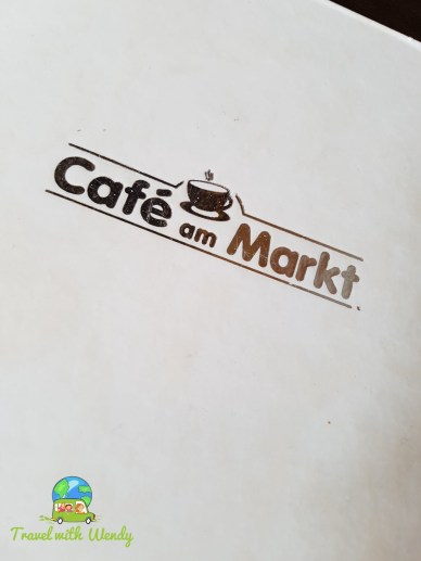Menu at Cafe am Markt
