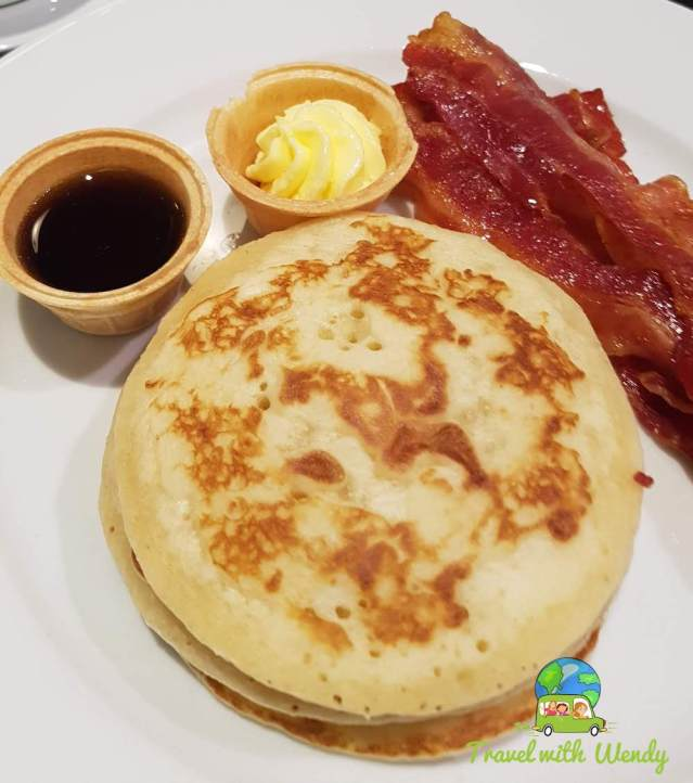 Pancakes and syrup at Funk Haus - Cologne, Germany