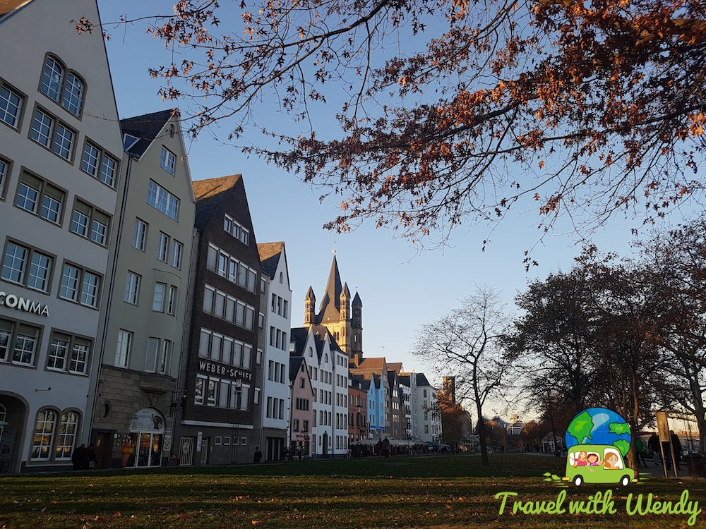 Park and the promenade - Cologne, Germany