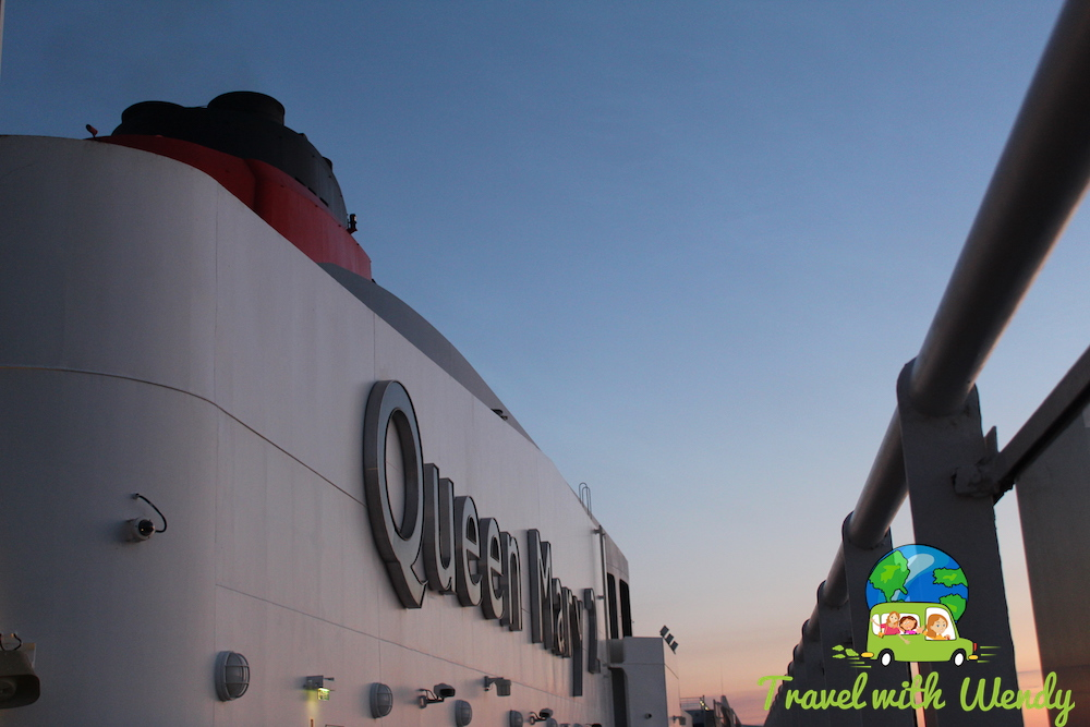 Sunset on the QM2