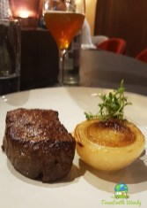 Filet and candied onion