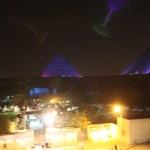 Giza-Pyramids-at-Night-Cairo-Misr TravelXena.com