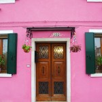 Burano-Italy-Pink-House-Doorway-TravelXena