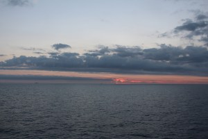 Sunsets over Oil Rigs Norway