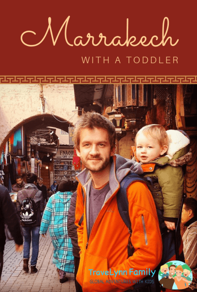 Marrakech with toddler pin