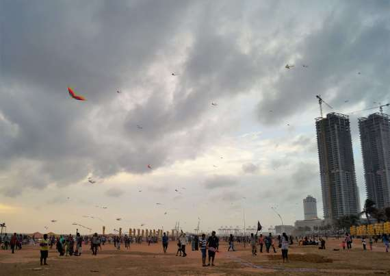 Colombo with kids - Galle Face Green