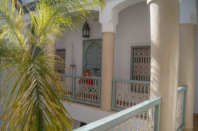 Riad Les Hibiscus balcony