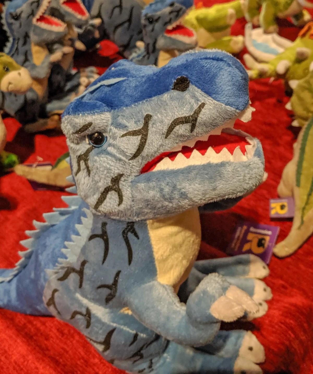 Cuddly dinosaur toy