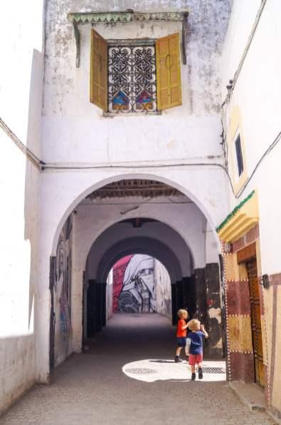 white arches in medina