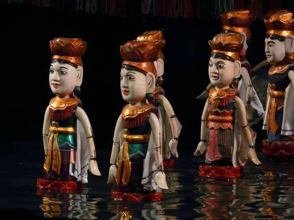 water puppets in Vietnam